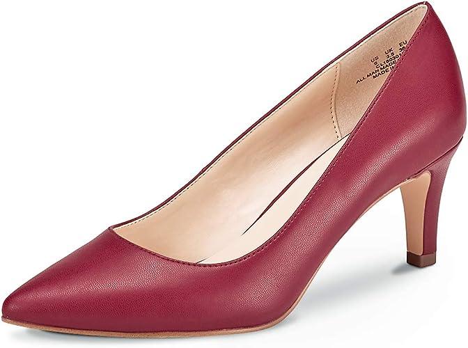 TALLA 39 EU. Zapatos de Corte clásico de tacón para Mujer Zapatos de tacón Medio Zapatos de Trabajo con Punta Cerrada