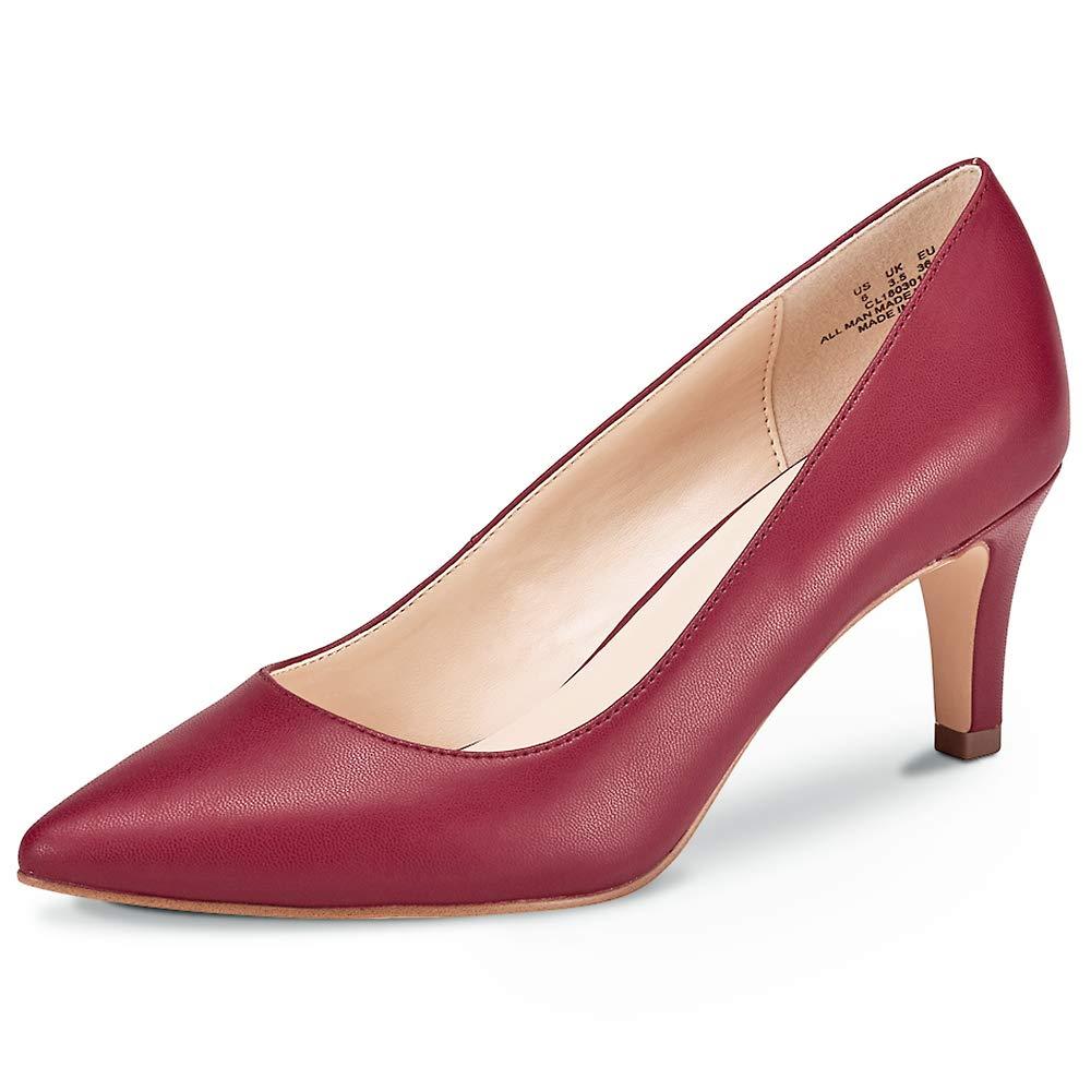 Zapatos de Corte clásico de tacón para Mujer Zapatos de tacón Medio Zapatos de Trabajo con Punta Cerrada