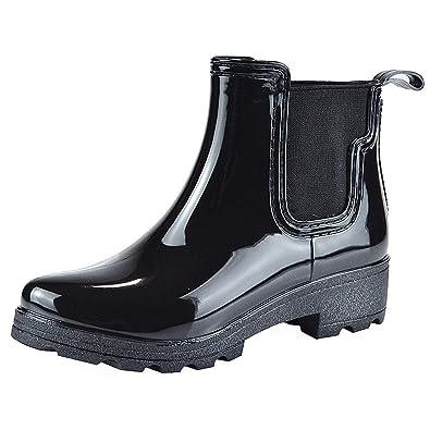 Vitalo Womens Waterproof Wellies Chelsea Rain Rubber Ankle Wellington Boots  Size 5.5 B(M) e07facbe80