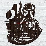 Best LEGO Star Wars Boy Stuffs - Wooden wall clock star wars boba fett gifts Review