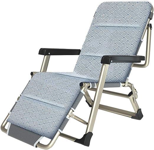 Tumbonas y sillas reclinables de jardín de Metal Plegable para Espacios pequeños | Silla de Oficina reclinable para Adultos con reposapiés en almacén |Sillas de terraza Acampar Playa, MAX.150kg: Amazon.es: Hogar