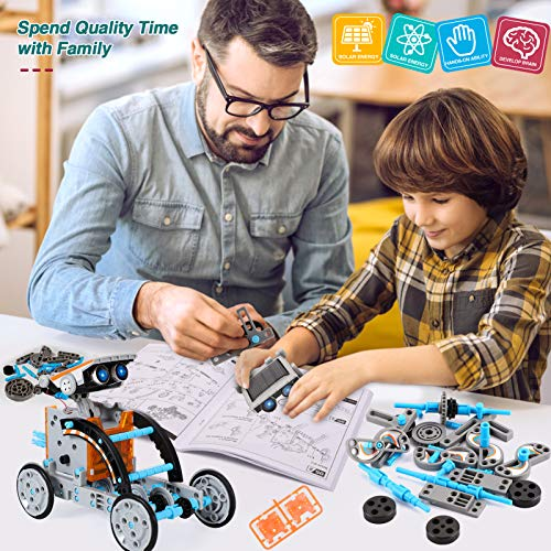 Lucky Doug Solar Robot Kit 12-in-1 Science STEM Robot Kit Toys for Kids Aged 8-12 and Older, Science Building Set Gifts…
