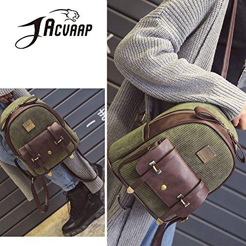 (JVP1017-B) Material de backpacing europeo negro 3way bolso mochila bandolera popular viajero de la escuela de recuperación de la escuela de moda de estilo casual Negro