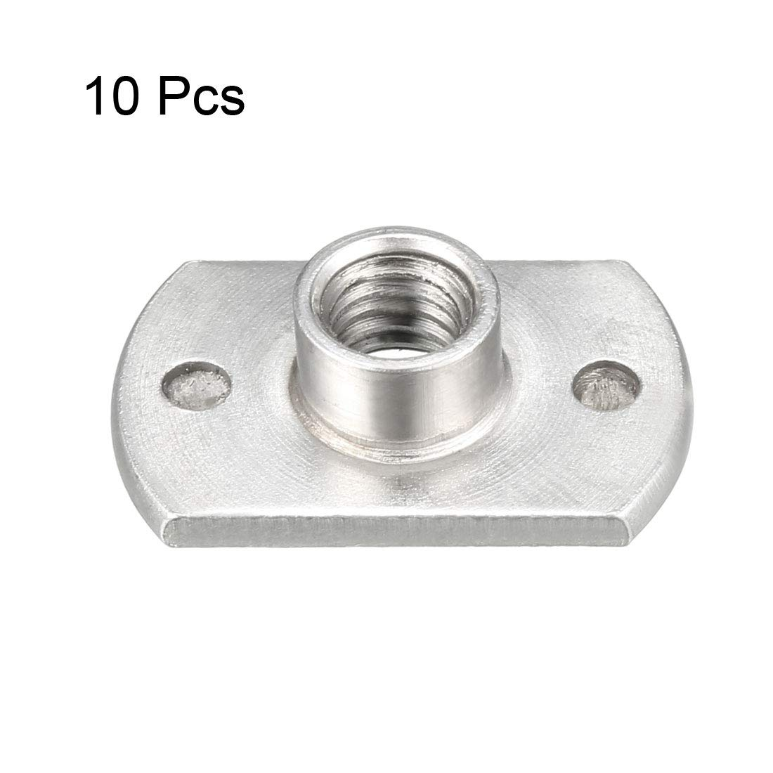 uxcell M8 Square Nuts Carbon Steel Machine Screw Weld Nut Pack of 20