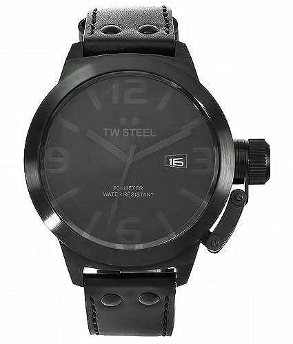 8445c31ead3 Amazon.com  TW Steel Men s  Canteen  Quartz Stainless Steel and ...