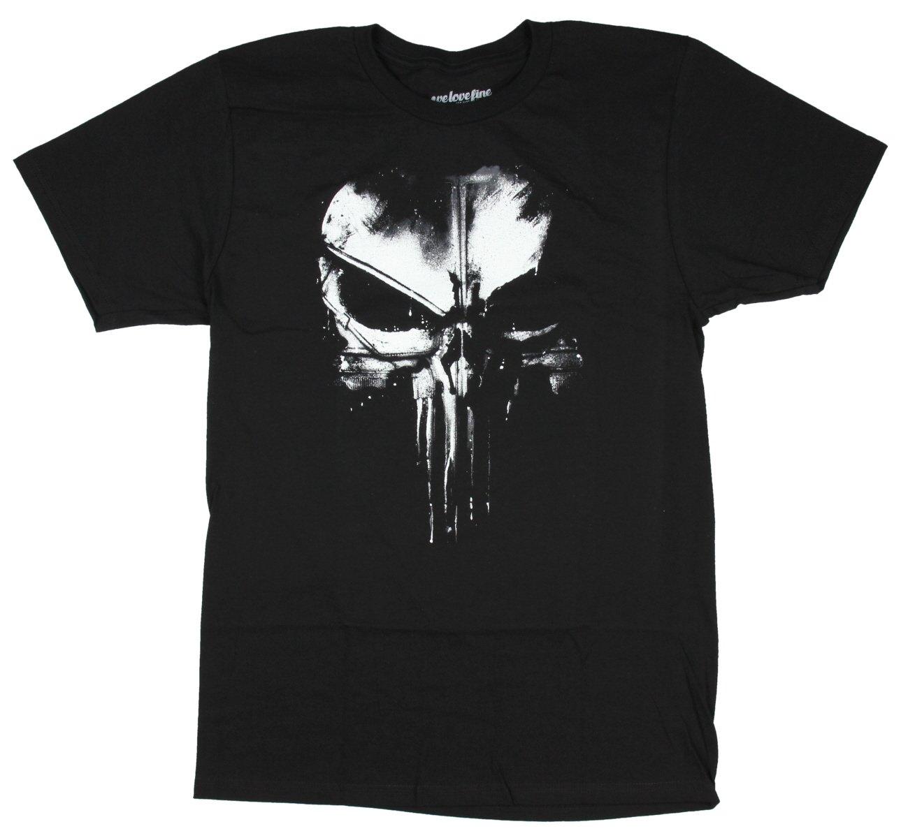 Marvel The Punisher Dirty Skull T-Shirt (Extra Large, Black) by Marvel (Image #1)