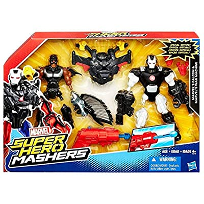 "Marvel Super Hero Mashers Battle Mash Pack Falcon & War Machine 6"" Action Fig..."