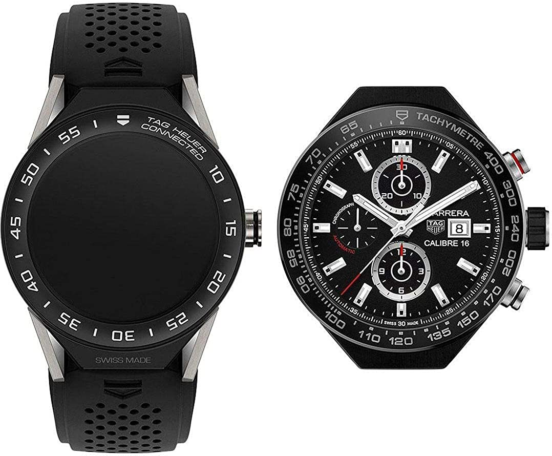 Amazon.com: Tag Heuer Connected Chronograph Mens Smartwatch ...