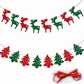 merry christmas banner bunting banner flag chirstmas deers party decorations 2