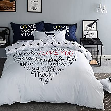 bed sheets for teenage girls. TheFit Paisley Textile Bedding For Teenager Girls And Boy U708 White Blue  Many Words Of Love Bed Sheets Teenage Girls D