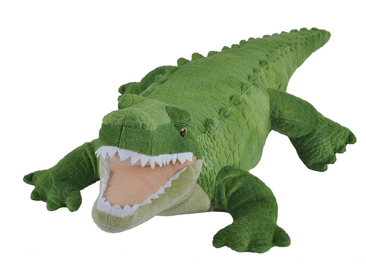 Wild Republic Green Alligator Plush, Stuffed Animal, Plush Toy, Gifts For Kids, Cuddlekins, 23''