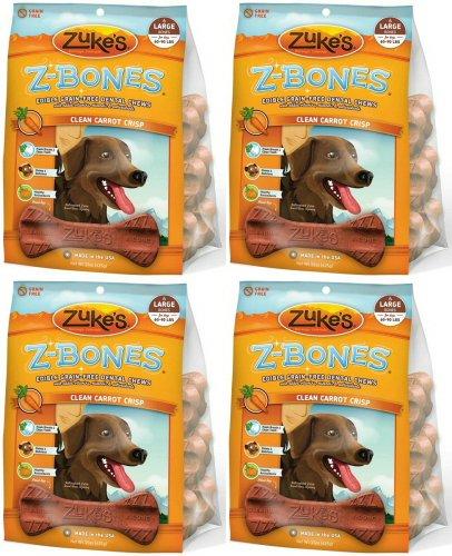 Zukes Z-Bones Edible Dental Chews Large Carrot Crunch 3.7lb