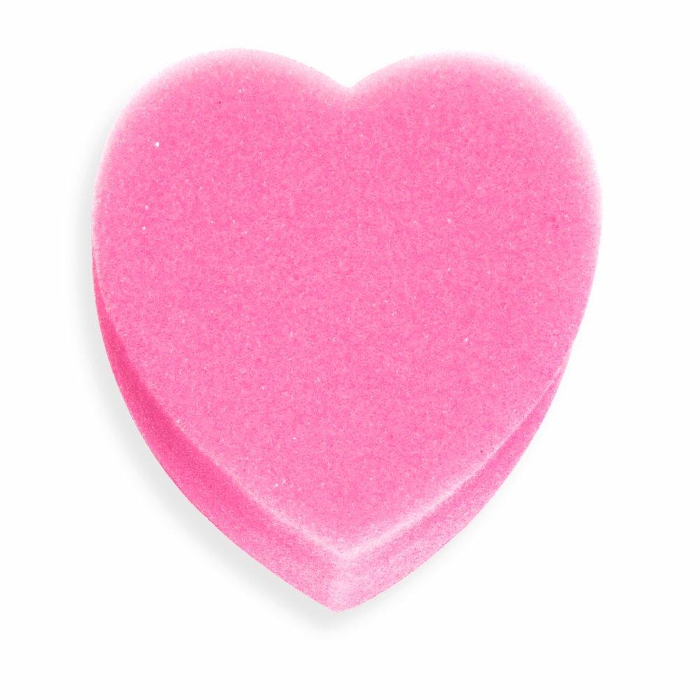 Esponja de baño de espuma, Corazón - Esponja rosa grande para el baño o la ducha ootb