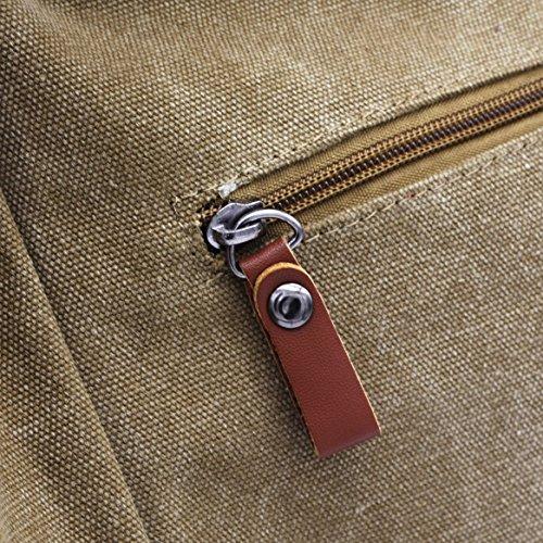 Shoulder Handbag ZENTEII ZENTEII Khaki Women Women Bag Canvas w4PTxapOq