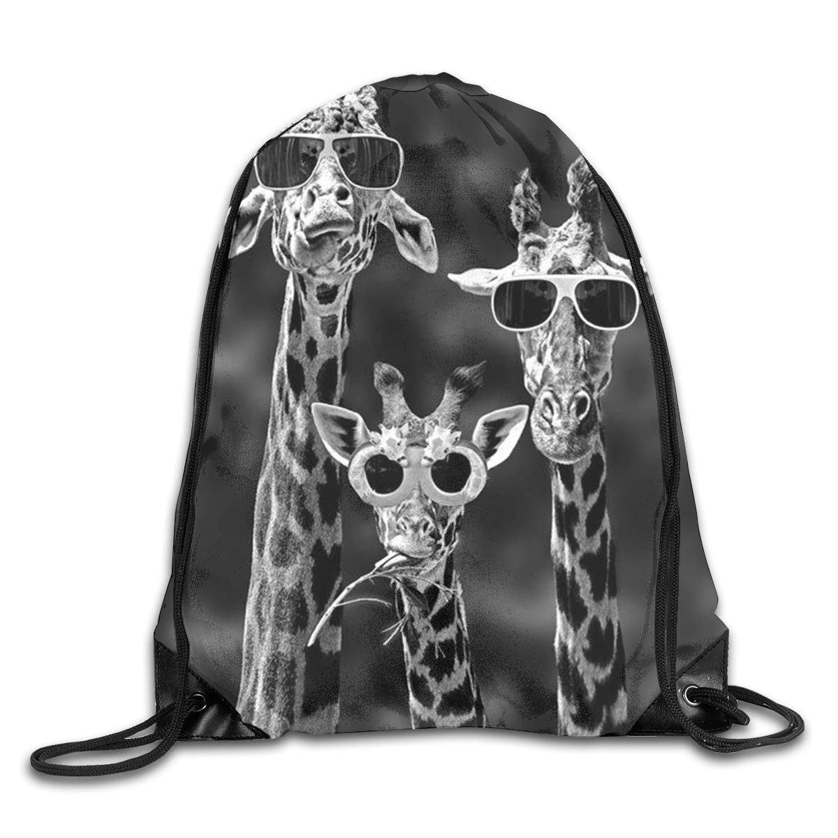 Amazon.com  Yuzioz Giraffe with Sunglasses Gym Sack Bag Drawstring Backpack  Sport Bag Men   Women School Travel Backpack,School,Beach  Sports   Outdoors ca94ca2397