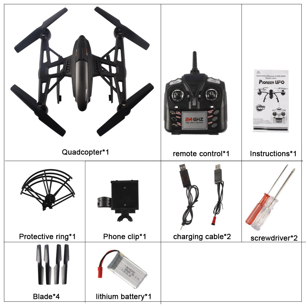 JXD 509W 6 Axis Quadcopter con Wifi Control 30W HD Camera for ...