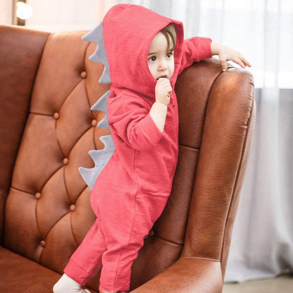 Baby Rompers,BaZhaHei Baby Boys Girls Pyjamas Kids Toddlers Dinosaur Pjs Romper Jumpsuit Size UK 6-24 Months Kids Girls Outfits Boys Sleepwear Tops Mini Skirts Shorts Cute Baby Girls Boys Jumpsuits