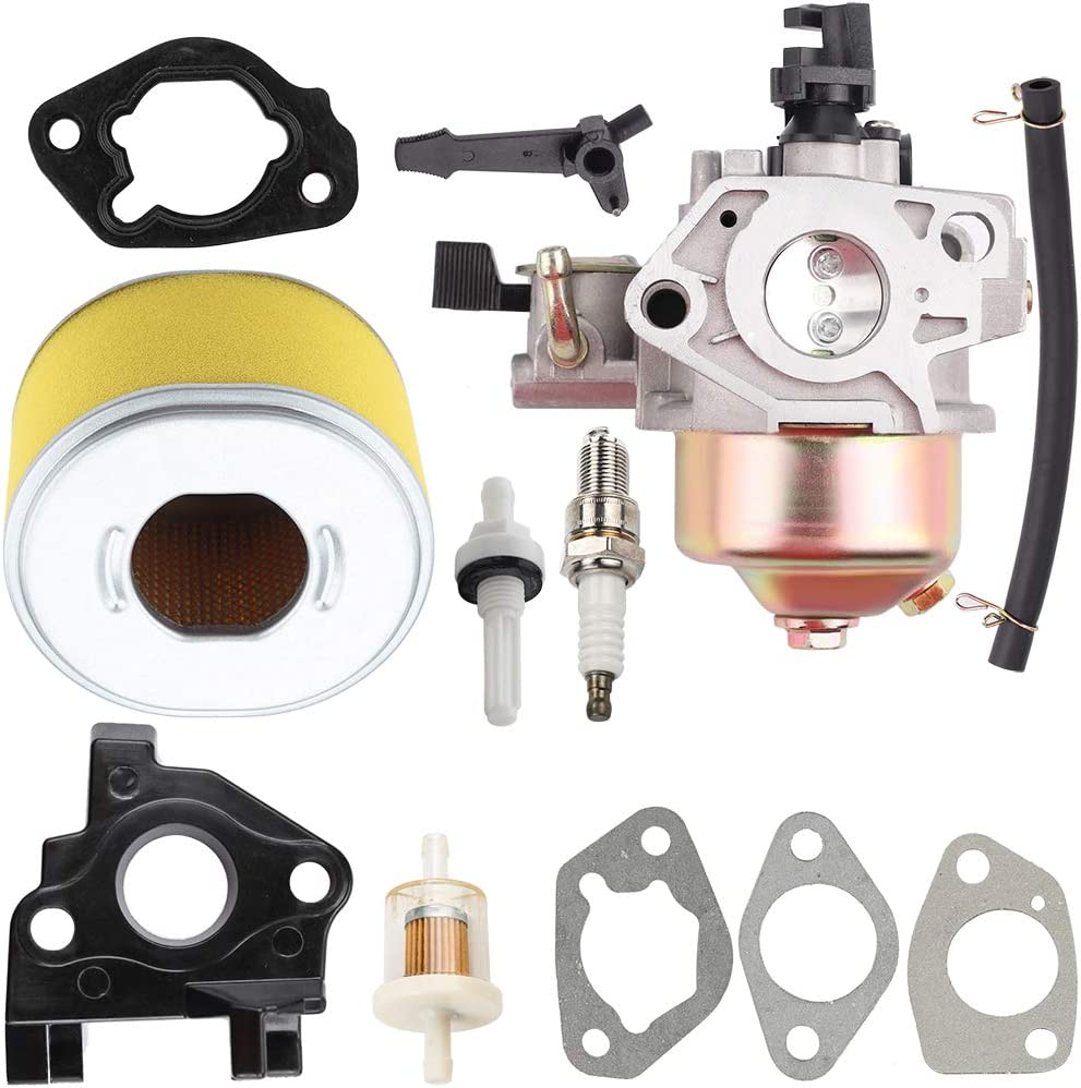 Kuupo 16100-ZH9-W21 16100-ZE2-W71 Carburetor with 17210-ZE2-515 Air Filter for Honda GX240 GX 240 8HP GX270 GX 270 9HP Engines 270cc WT30X Trash Pump Pressure Washer Generator