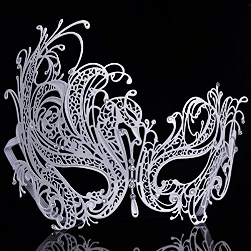 White Swan Halloween Costumes (Coxee Masquerade Mask, Swan Shape, Halloween, Metal)