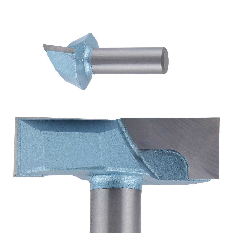Doppelfl/ötenfr/äser mit Hartmetallspitze HSEAMALL Fr/äser f/ür Elektro Oberfr/äsen,1//2-Zoll-Schaft 2-Zoll-Schnittdurchmesser Unteres Reinigungsfr/äser-Bit