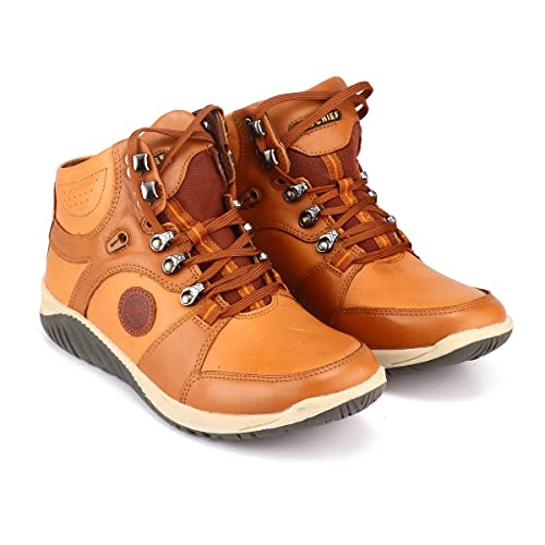 Buy Red Chief Tan Leather Boots Shoes