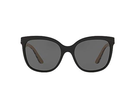 9c6ae802b5b1 Amazon.com  Burberry Women s 0BE4270 Black Grey One Size  Burberry ...