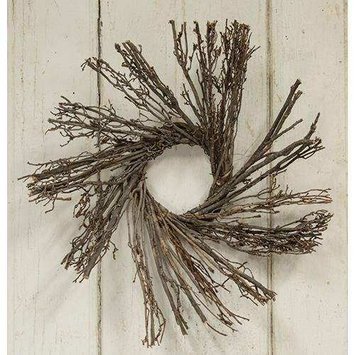 Heart of America Natural Vine Sunburst Wreath 12''