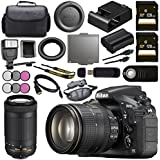 Nikon D810 DSLR Camera w/24-120 VR Lens 1556 AF-P DX 70-300mm f/4.5-6.3G ED Lens 20061 + 128GB SDXC Card + 58mm 3 Piece Filter Kit + 77mm 3 Piece Filter Kit Bundle