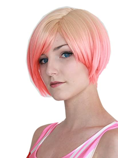 Capelli corti biondo rosa