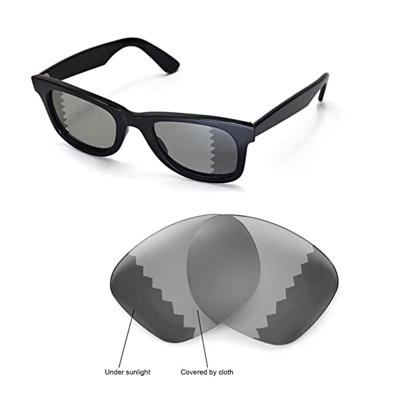 b345cd77d4 Walleva Replacement Lenses for Ray-Ban Wayfarer RB2140 50mm Sunglasses -  Multiple Options Available(