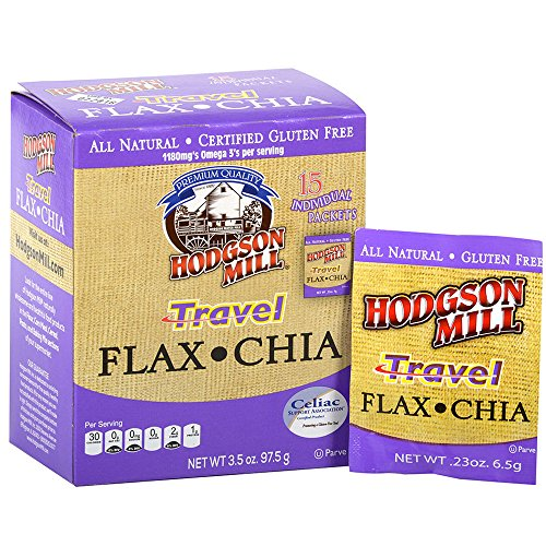 Hodgson Mill Travel Flax Chia Blend 0.23 Ounce Packets, 15 Count (Pack of 6), High in Fiber, Omega 3, Protein, Vitamin C, Calcium and Iron