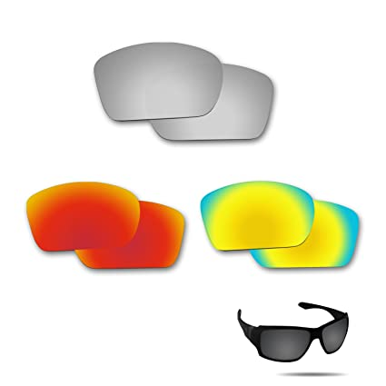cd394233e1b Fiskr Anti-Saltwater Polarized Replacement Lenses for Oakley Big Taco 3  Pair Pack