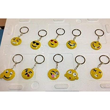 STOCK 10 PIEZAS Emoticon Emoji Llavero de metal con cara ...