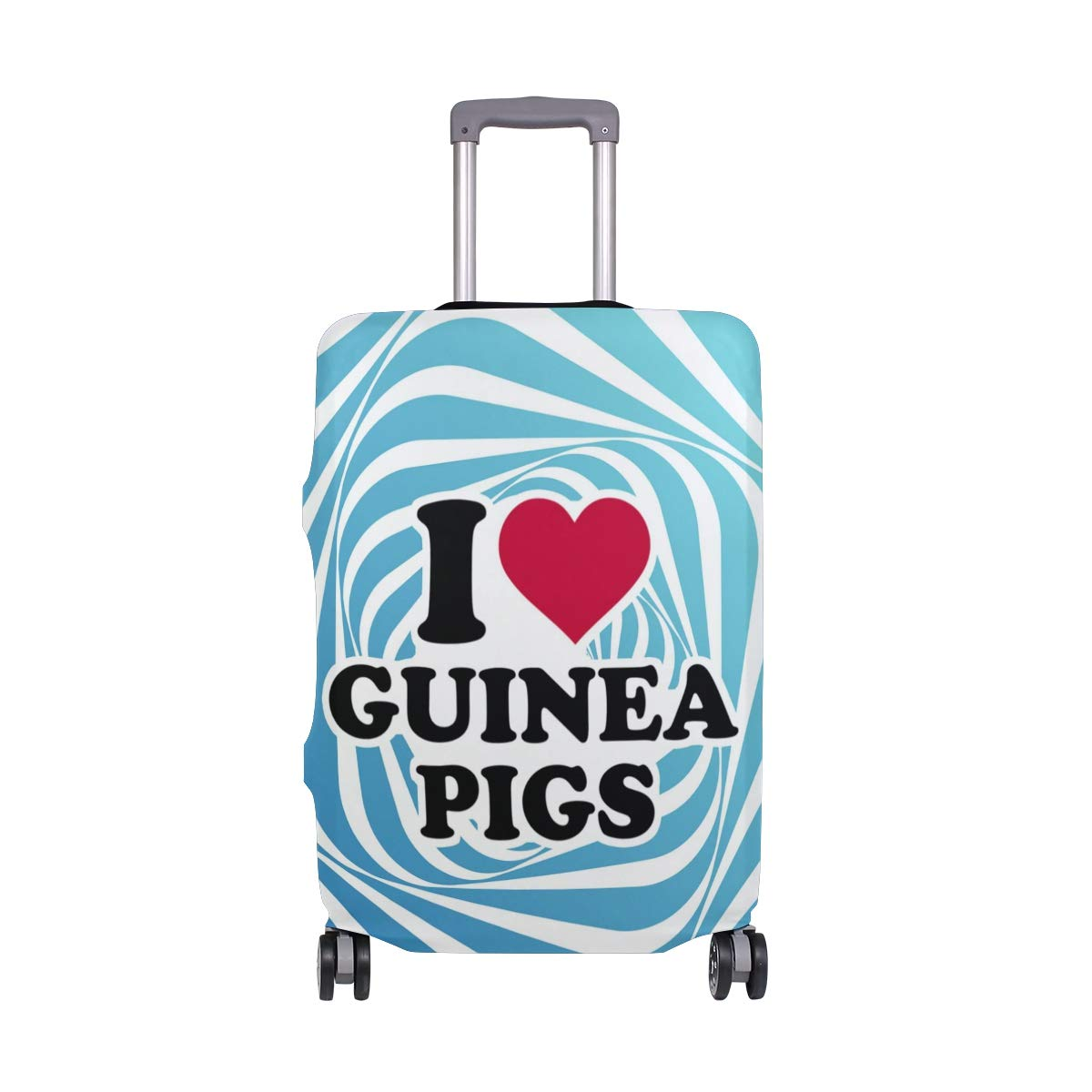 I Love Guinea Pigs Travel Luggage Cover - Suitcase Protector HLive Spandex Dust Proof Covers with Zipper, Fits 18-32 inch