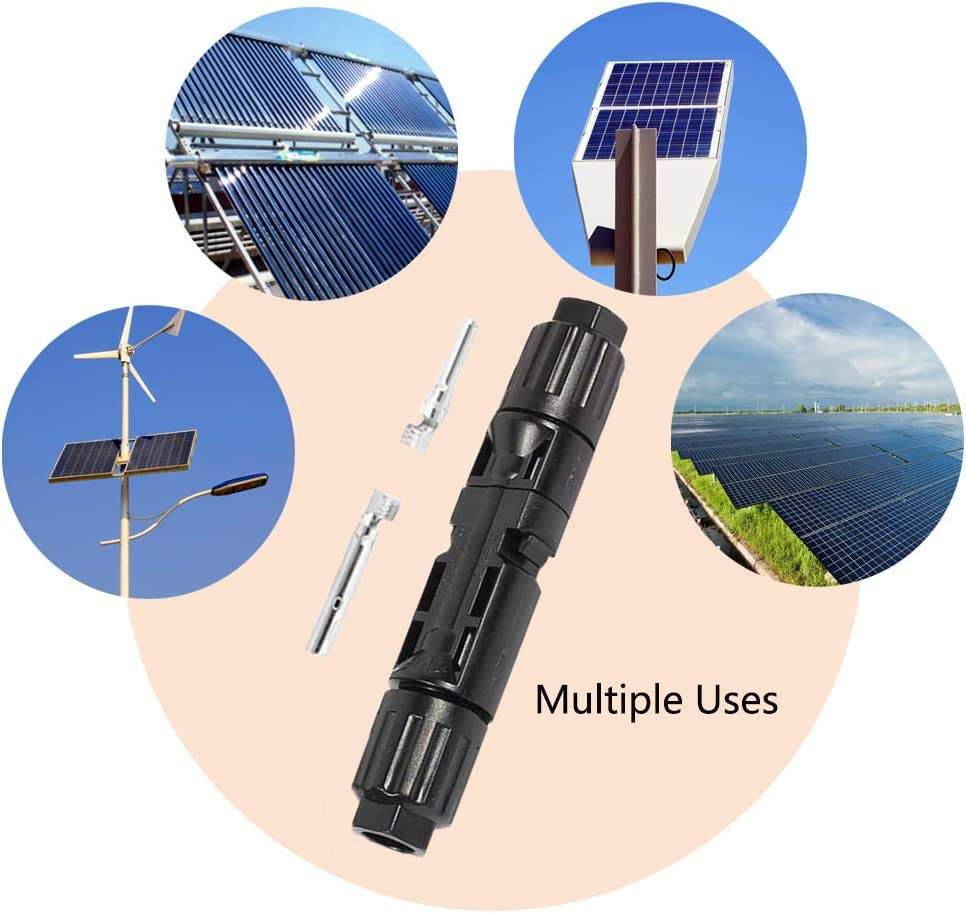 1 to 3 2 Pairs MC4 Connector,Photovoltaic Connector,Solar Panel Cable Connectors for Solar Cell Panels,Inverter Solar Panel Photovoltaic System MC4 Style Branch Connector YIXISI 1 Pair T Type