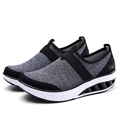 1a69c93db96e Clearance Sale Wedge Trainers - OverDose Women's Casual Shoes Increased  Thick-Soled Rocking Shoes Wedge