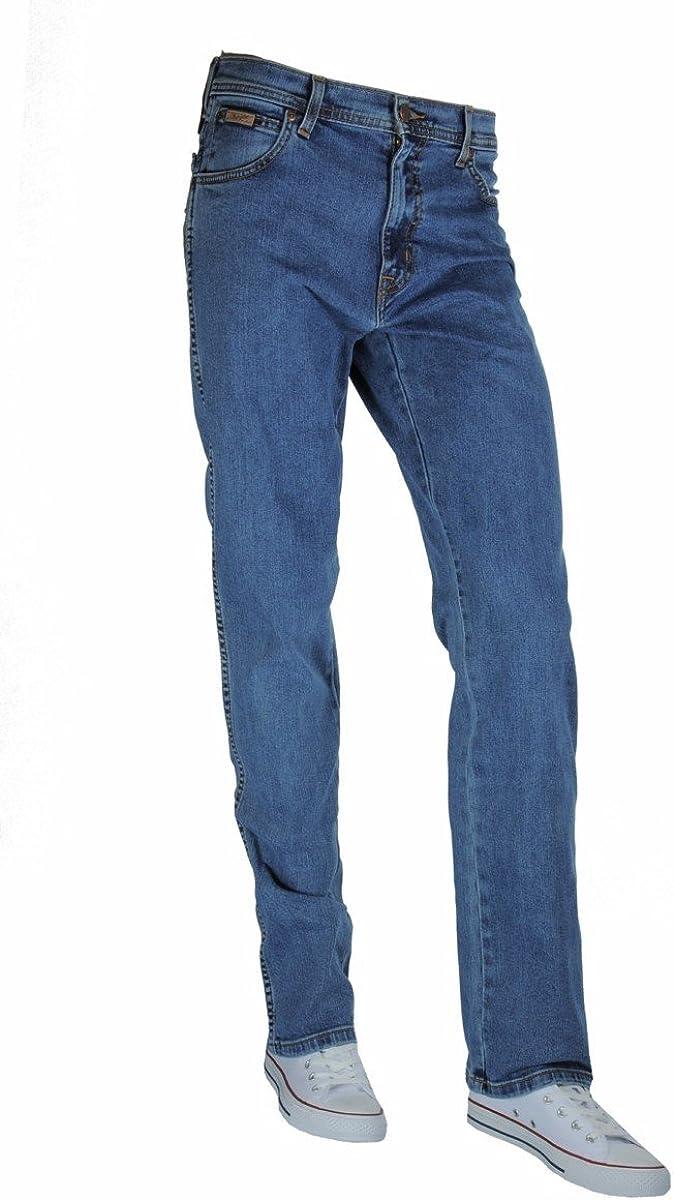 WRANGLER TEXAS STRETCH 001 corte regular Pantalones vaqueros para hombre color azul y negro 36//34