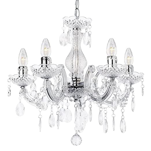 5 light dual mount chandelier marie therese white chrome multi 5 light dual mount chandelier marie therese white chrome multi coloured black aloadofball Image collections