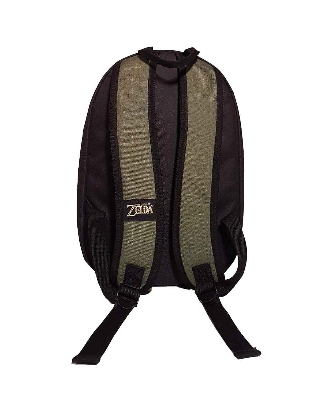 Amazon.com: Zelda Mochila de eslabones negros con logotipo ...