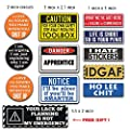 1 SET REFLECTIVE 3M (11pcs + 1 FREE) Hard Hat, Tool Box Stickers | 100% PVC ! Funny decals for Construction, Electrician, Union, OSHA, Oilfield, Military, Fire Crew, Mechanics