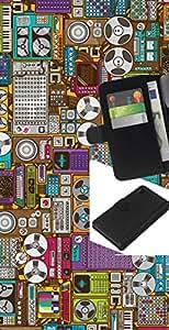 JackGot ( Grabar Oldschool Máquina de dibujos animados ) Sony Xperia Z4v / Sony Xperia Z4 / E6508 la tarjeta de Crédito Slots PU Funda de cuero Monedero caso cubierta de piel