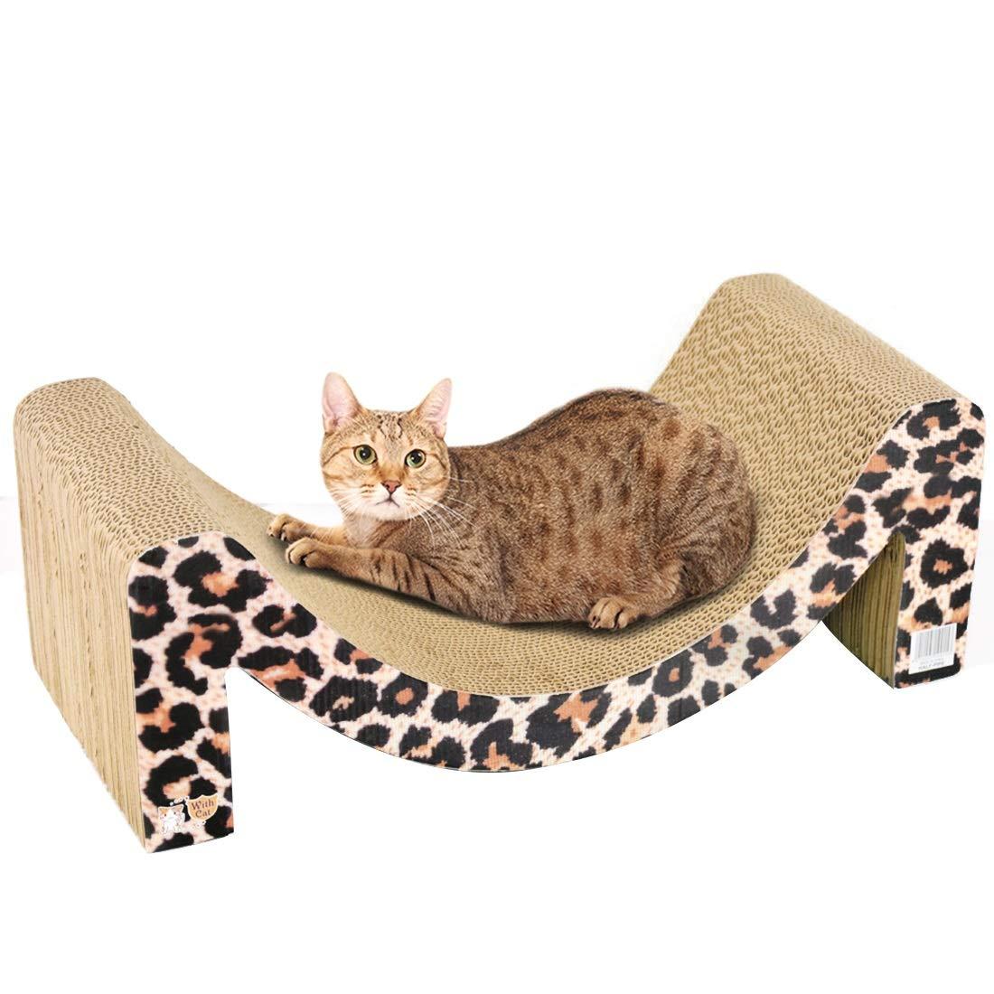 Sconto del 70% a buon mercato YUMUY YUMUY YUMUY Cat Scratch Board Cat Letto Cat Sofa Arch Bridge Leopard Scratch Board (Colore   Leopard, Dimensione   49.5x24.0x17.5cm)  comprare sconti