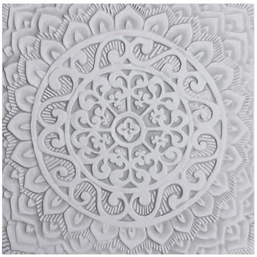 Amazon Com Decorative Ceramic Tile Kitchen Tile Bathroom Tile Tile Art Wall Tiles For Kitchens And Bathrooms Mandala 1 11 8 Grey Handmade