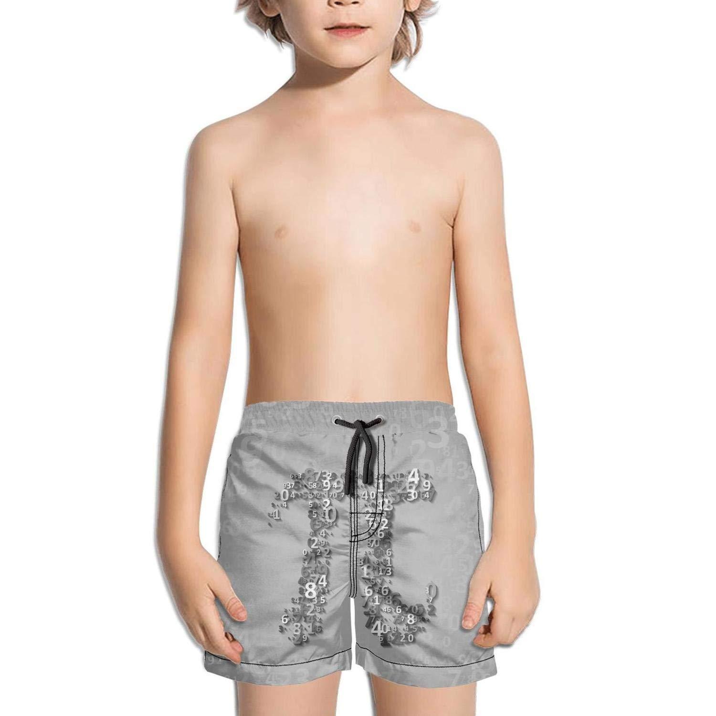 Trum Namii Boys Quick Dry Swim Trunks Math Pi Balancing Equations Shorts