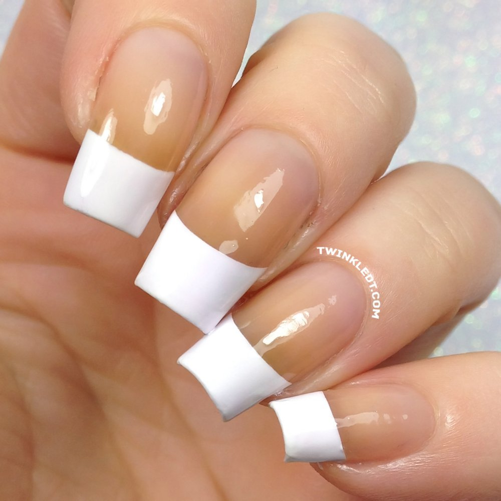 French Tip Nail Vinyls By Twinkled T , 1 Sheet of 100 Vinyls