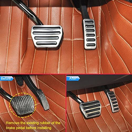 AutoBig Gas Pedal Cover for Range Rover Sport 2014 Land Rover Discovery 5 Brake pad Accessories