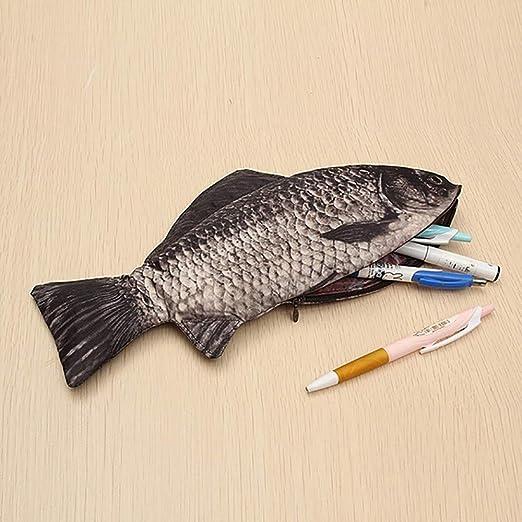 LANCOLD - Estuche para lápices de Carpa con Forma de pez: Amazon.es: Hogar