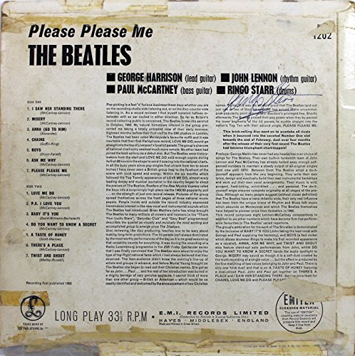- Ringo Starr The Beatles Signed Please Please Me Album Cover BAS #A81093 - Beckett Authentication
