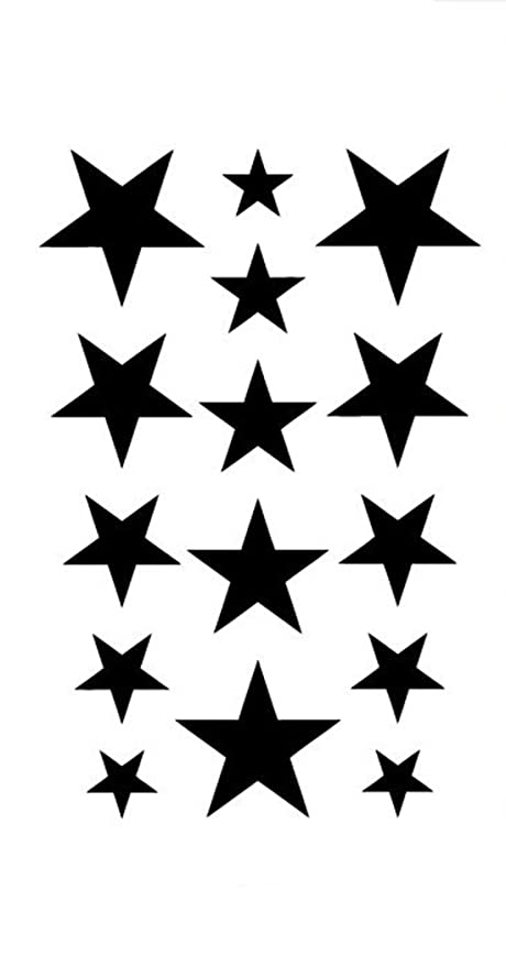 3D Temporary Tattoo Stars Design Size 10.5x6CM - 1PC.
