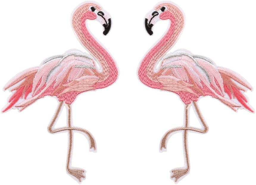 1 Flamingo Patches For Clothes Iron On Transfers Patch Washable Clothes Stickers